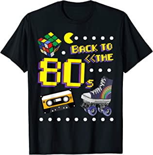 80er Jahre Motto Party Back to the 80s Kostüm T-Shirt