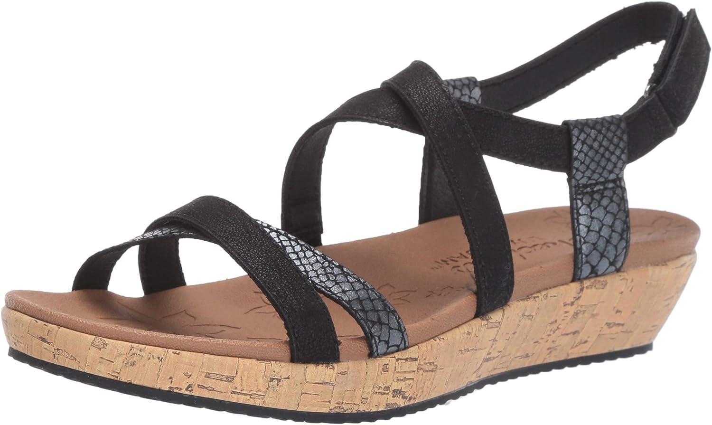 Skechers Womens Brie - Desert Dance - Multi-Strap Slingback Sandal Flat Sandal