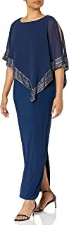 S.L. Fashions womens Cape Dress Special Occasion Dress