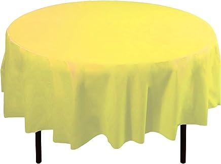193 & Amazon.com: Yellow - Round / Tablecloths / Kitchen \u0026 Table ...