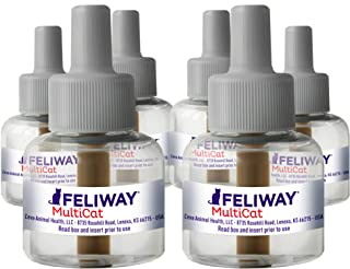 Feliway MultiCat Calming Diffuser Refill (6 pack, 48 ml) | Vet Recommended | Reduce Fighting and Conflict Among Cats, D89442D