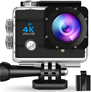 WearNow G7 Pro Ultra HD 4K Action Camera 16MP Vision 131 feet Underwater Waterproof Camera 170 Degree Wide Angle WiFi Sports Camera with Remote Control and Mounting Accessories Kit