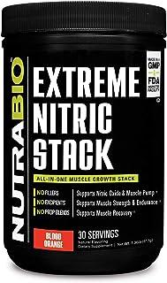 NutraBio Extreme Nitric Stack (Blood Orange) - Nitric Oxide and Cell Volumizing Formula