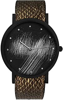 South Lane Swiss Quartz Stainless Steel and Leather Casual Watch, Color:Black (Model: core-SL-3)