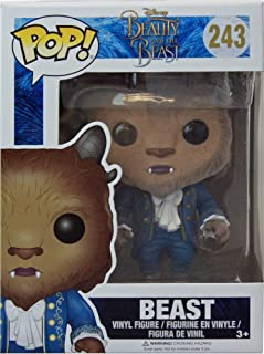 Funko 12905 – Disneys Beauty and The Beast, Pop Vinyl Figure 243 Flocked Beast
