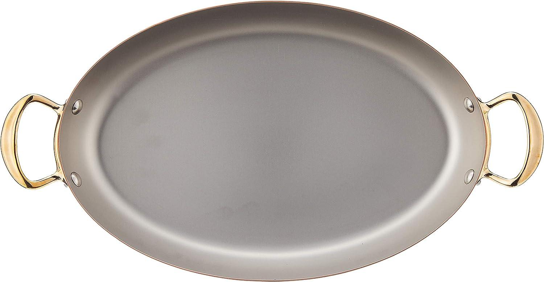 11.8 Bronze Handle Mauviel 0 MHeritage M150B Copper Oval Pan