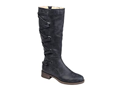 Journee Collection Carly Boot Wide Calf (Navy) Women