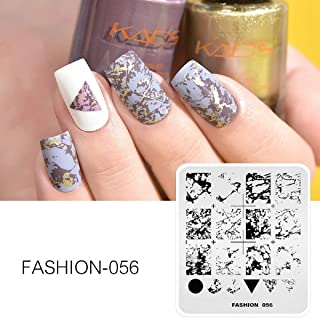 New Stamper Fashion 056 Nail Stamping Plates Marble Patterns Image Manicure Stamping Template Overprinting for Nail Art