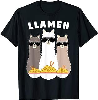 Japanese Llamen Ramen Noodles T-Shirt Kawaii Gift Idea