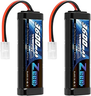 Zeee 7.2V 3600mAh RC NiMH Battery with Tamiya Plug for RC Car RC Truck Associated HPI..