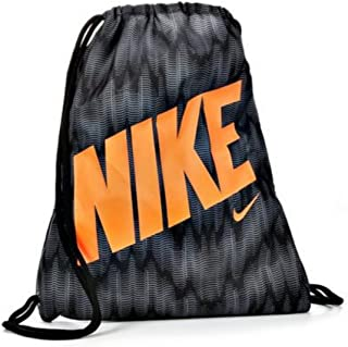 26b6e008b8 Nike Young Athlete Drawstring Gymsack Backpack Sport Bookbag (Wolf Grey Black  Graphic Mix