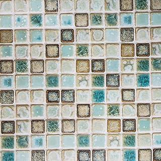 Hode Decorativos Adhesivo de Azulejo para Cocina Baño Mosaico Pegatinas de Baldosas Stickers Azulejos Verde 40X200cm