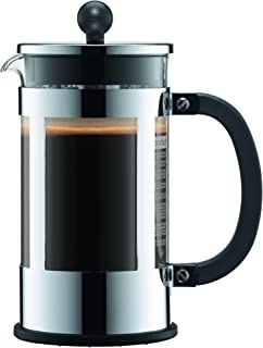 Bodum Kenya 8 Cup French Press Coffee Maker, Chrome, 1.0 l, 34 oz