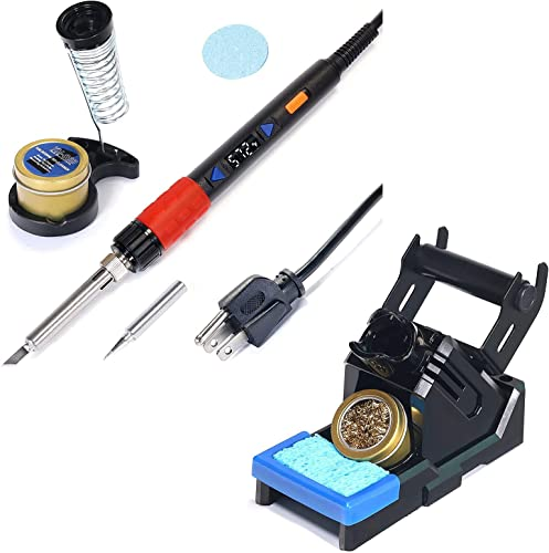 2021 YIHUA 928D new arrival III Hand Soldering Iron bundle with X-2 online Evolution Soldering Iron Holder (back-up option) (8items) outlet online sale