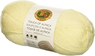 Lion Brand Yarn 674-098 Touch of Alpaca Yarn, Cream