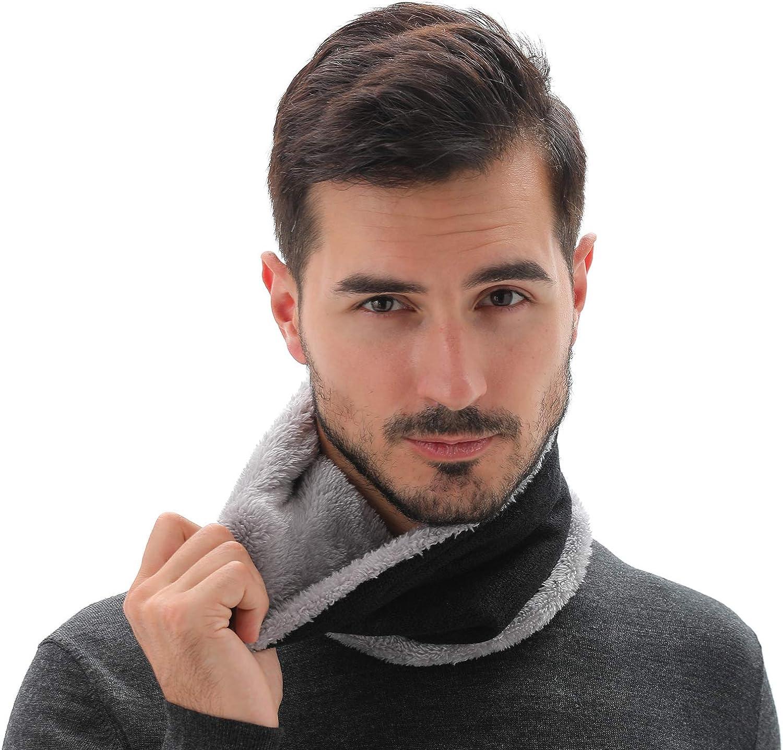 NovForth Fleece Neck Warmer for Women Men Winter Scarf Neck Gaiter