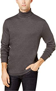Club Room Men's Cotton Blend Turtleneck Sweater Charcoal Grey Small