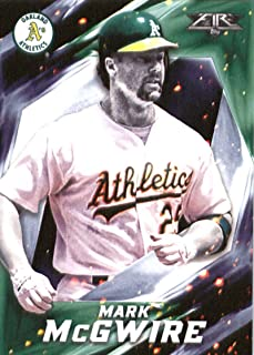 2017 Topps Fire #22 Mark McGwire Oakland Athletics Baseball Card