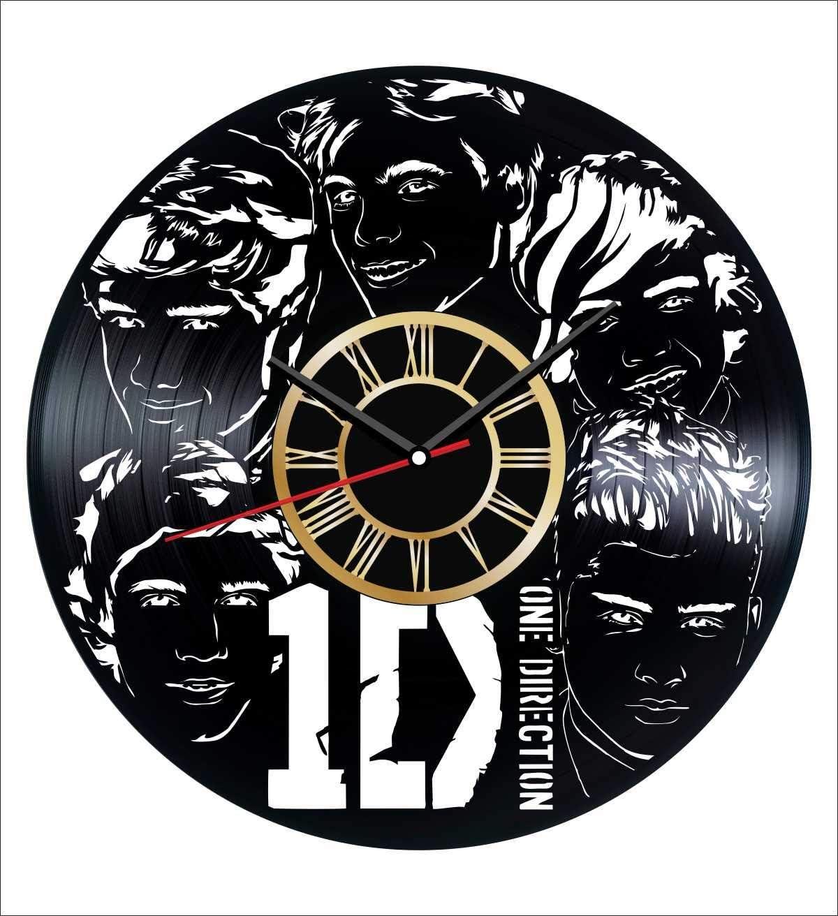 One Direction Vinyl ☆国内最安値に挑戦☆ Wall Clock Vintage Unique Get スーパーセール期間限定 Record Home -
