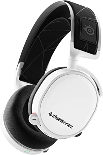 SteelSeries Arctis 7 - Wireless Gaming Headset - DTS Headphone:X v2.0 Surround for PC and PlayStation 4 - White [2019...