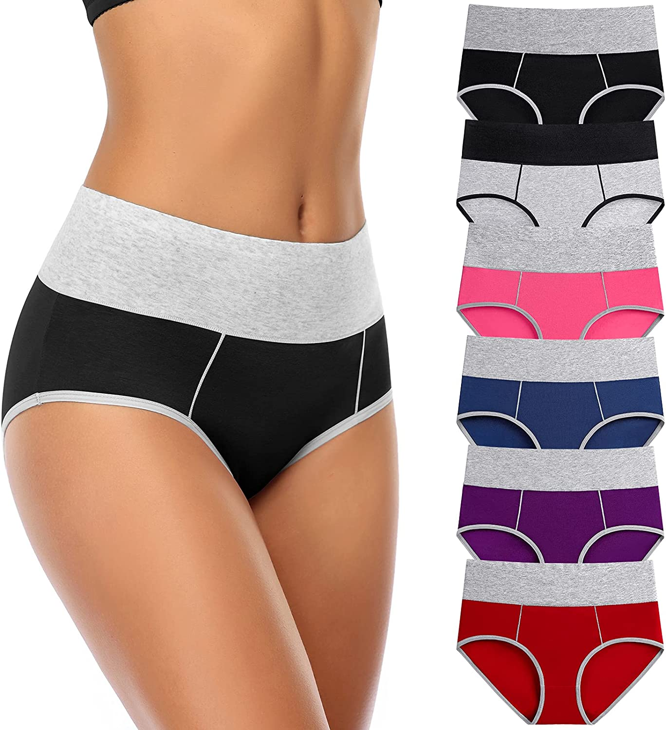 Women's Cotton Underwear High Waisted Ladies Inexpensive Free Shipping New Soft Stretc Panties