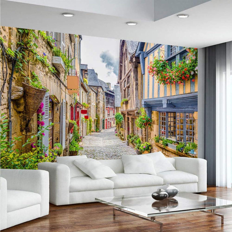 selección larga Xbwy Fondo De De De Pantalla En 3D City Street Paisaje Mural Restaurante Café Sala De Estar Tv Telón De Fondo Pintura De Parojo3D Paisagem-200X140Cm  saludable