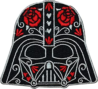 Disney Star Wars Cute Darth Vader Calavera Patch Officially Licensed Iron On