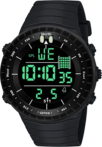 Digital Black Dial Boy s and Men s Watch