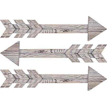 2PCS Rustic Wood Arrow Decor Arrow Sign Wall Hanging Ornament Home Decoration