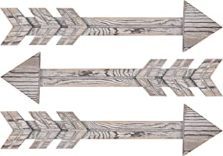 TIMEYARD Wood Arrows Wall Decor, Set of 3 Farmhouse Arrow Sign, Decorative Rustic Home..