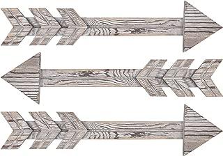 TIMEYARD Wood Arrows Wall Decor, Set of 3 Farmhouse Arrow Sign, Decorative Rustic Home Wall Hanging Decor