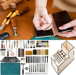 XDXDO Kits D'outils D'artisanat en Cuir De 90 Pièces, Outil De Travail De Traitement du Cuir avec Rivets À Boutons Et Supp...