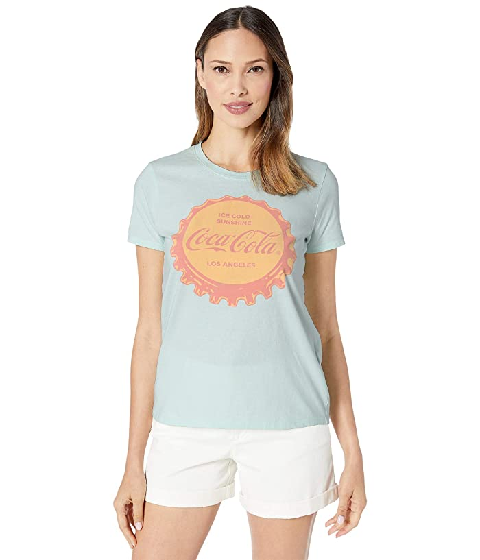 Lucky Brand  Coca Cola Tee (Morning Mist) Womens Clothing
