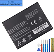 New Li-Polymer Replacement Battery Li3831T43P4H826247 Compatible with ZTE Grand X 3 Grand X 3 LTE Z959 with Tools