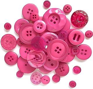 Ceramic Buttons ~ Ceramic Buttons Handmade ~ Pink Buttons ~ Pastel Buttons ~ Buttons Pink ~ Buttons for Sewing ~ Textured Buttons~4101