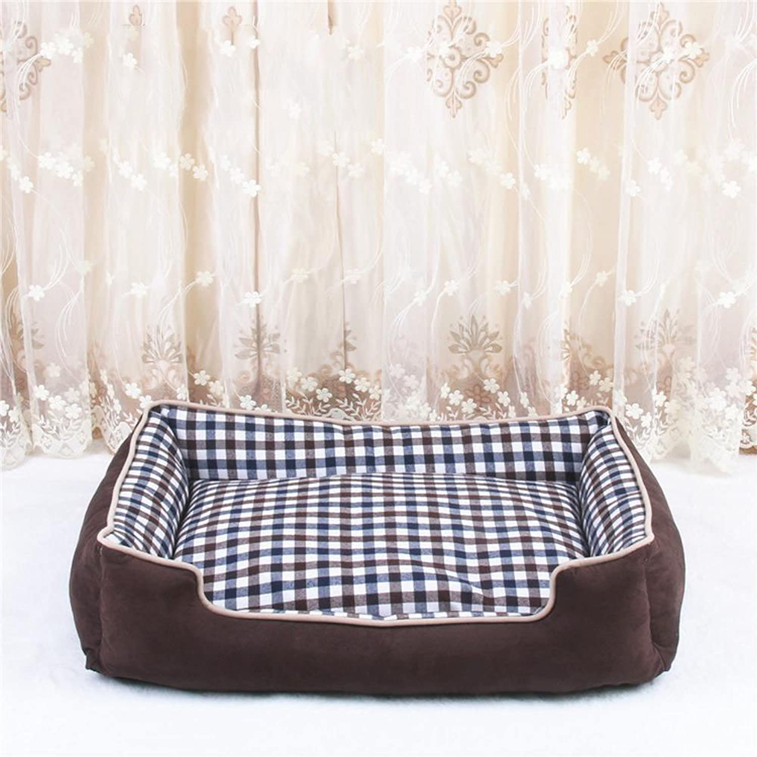 BiuTeFang Pet Bolster Dog Bed Comfort Kennel mat washable dog bed pet nest
