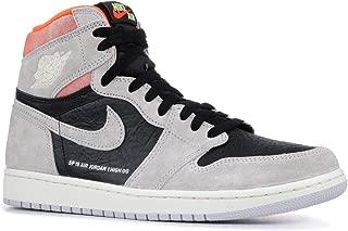 AIR Jordan 1 Retro HIGH OG 'Grey Crimson' - 555088-018