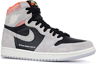 1 Retro High Og 'Grey Crimson' - 555088-018 - Size 13