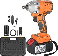 Duotar Chave de impacto sem escova de 1/2 polegada 380Nm de alto torque 4.0A Bateria de íon-lítio de velocidade variável C...