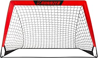 RUNNZER Portable Soccer Goal,  Soccer Nets for Backyard Training Goals for Soccer Practice with Carry Case,  Set of 1, 3.3'/4.5' x 2.5'