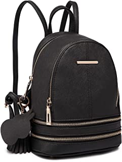Miss Lulu Small Mini Backpack for Girls Women Casual Fashion Daypack Cute Saffiano Pu Leather Shoulder Bag