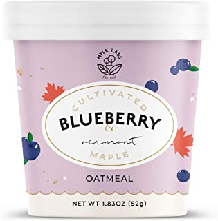 Mylk Labs Gluten Free Instant Oatmeal - Cultivated Blueberry & Vermont Maple - Roast Ground Almond w/ Thin ...