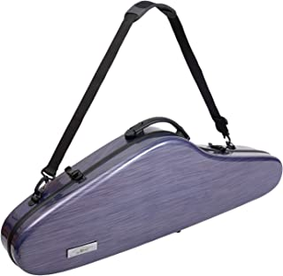 Aileen Violin Hard Case 4/4 Full Size Luxury with Hygrometer Suspension, Purple