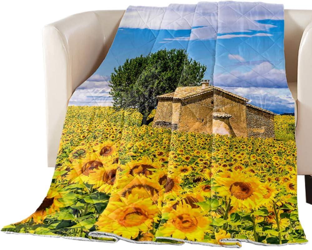 Comforter Duvet Insert Home Quilt Hut Farm Sunflower Limited price Retro Dream Cheap mail order shopping