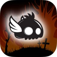 Unpredictable random levels Tap to Fly Game mode Black and White classic game Spooky characters Awesome sounds and music