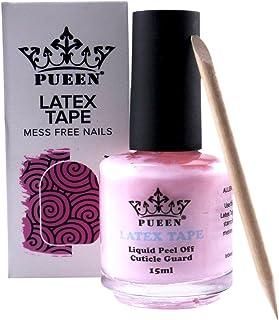 PUEEN Latex Tape Peel Off Cuticle Guard Skin Barrier Protector Nail Art Liquid Tape 15ml..