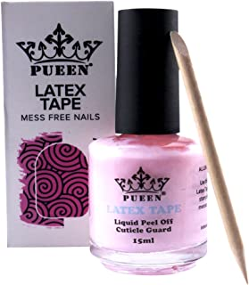 PUEEN Latex Tape Peel Off Cuticle Guard Skin Barrier Protector Nail Art Liquid Tape 15ml Pink BH000584
