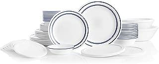 Corelle 78-Piece Service for 12, Chip Resistant, Classic Café Blue Dinnerware Set