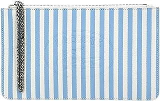 Lacoste Croco Crew Seasonal Clutch Farine Stripes Nattier