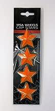 Set of 4 MSA Orange Stars (Fits All MSA Wheel Caps Except M16)